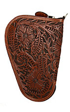 3D Belt Company Tan Small Pistol Case with Fancy Embossed Leather