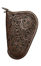 3D Belt Company Brown Small Pistol Case with Fancy Embossed Leather