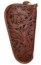 3D Belt Company Tan Medium Pistol Case with Fancy Embossed Leather