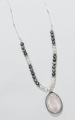 Laminin Pine Hill Black Labradorite Beaded Necklace