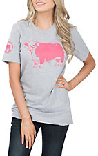 Lazy J Ranch Wear Pink Jughead Hereford T-Shirt