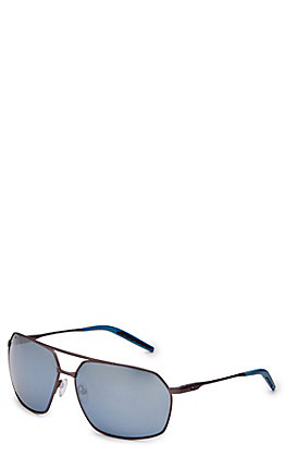 Costa Pilothouse Matte Dark Gunmetal Grey Silver Mirror Sunglasses