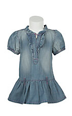All Around Baby Denim Ruffle Dress