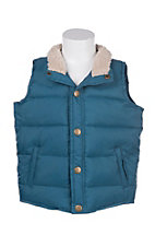 Wrangler Toddlers Puffer with Sherpa Collar Vest