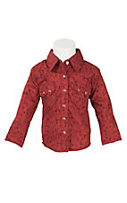 Wrangler Infant Red Paisley Long Sleeve Western Shirt