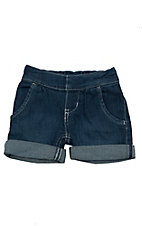 All Around Baby By Wrangler Infant/Toddler Medium Wash Western Cuffed Shorts