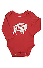 Wrangler Infant Long Sleeve Free To Roam Western Screenprint