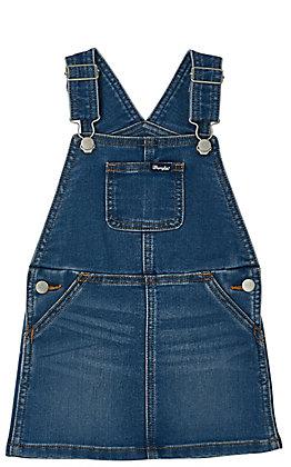 Wrangler Girls' Toddlers Denim Skirt Overalls