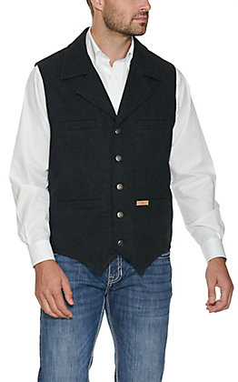 Powder River Men's Black Montana Wool Vest