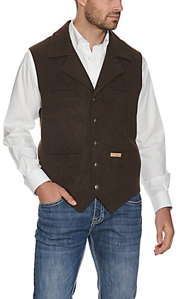 Powder River Men's Chocolate Brown Montana Wool Vest