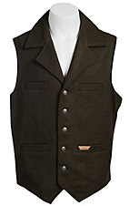 Powder River Men's Dark Green Loden Wool Montana Vest