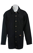 Powder River Men's Heathered Black Wool Coat