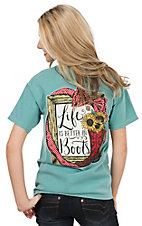 Girlie Girl Originals Women's Seafoam Life Is Better In Boots Short Sleeve T-Shirt