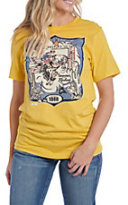 XOXO Art & Co. Women's Maize Rodeo T-Shirt
