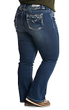 Grace In LA Women's Dark Wash Straight Jeans - Plus Size