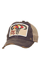 Lazy J Ranch Purple Skull and Flowers Patch Cap