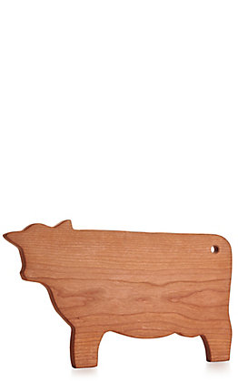 Cow Shaped Cherry Wood Cutting Board