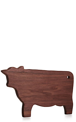 Cow Shaped Walnut Wood Cutting Board