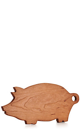 Pig Shaped Cherry Wood Cutting Board
