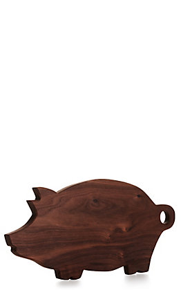 Pig Shaped Walnut Wood Cutting Board