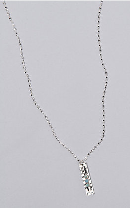 Laminin Pueblo Silver Plated Chain With Silver Arrow Pendent Necklace