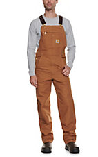 Carhartt Brown Duck Bib Overall - Unlined