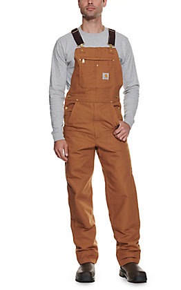 Carhartt Brown Duck Unlined Bib Overalls