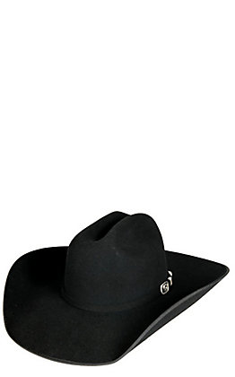 Resistol 3X Horseshoe Black Bound Edge Wool Cowboy Hat