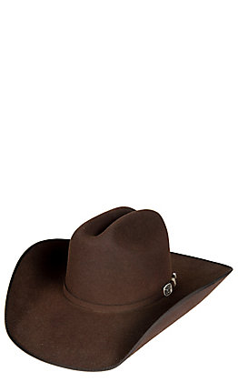 Resistol Panhandle Collection 3X Longhorn Chocolate Bound Edge Wool Cowboy Hat