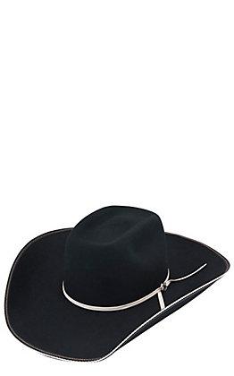 Resistol 4X Snake Eyes Black Brick Felt Cowboy Hat