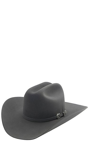 a7b4737076025 Resistol 5x The Challenger Granite Grey Cattlemen Felt Cowboy Hat