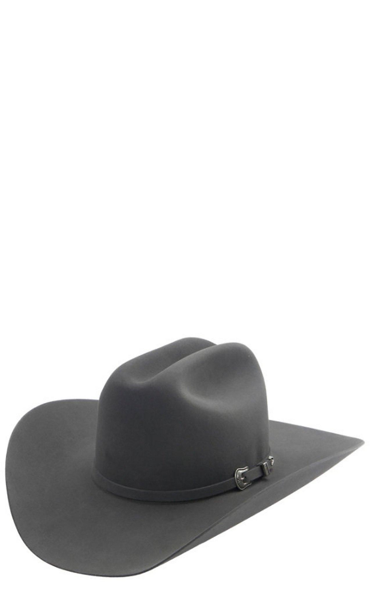 Resistol 5X The Challenger Granite Grey Cattlemen Felt Cowboy Hat 882a8aedb667