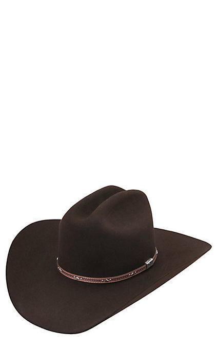 fb127faec88 Resistol 6X George Strait Kingman Chocolate Felt Cowboy Hat