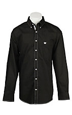 Panhandle Men's Black Print Long Sleeve Western Shirt