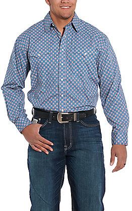 Rough Stock by Panhandle Navy Geo Print Western Shirt