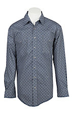 Panhandle Men's Steel Rough Stock Aztec Print Button Down Shirt