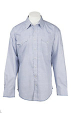 Panhandle Men's Blue Dawson Antique Print Long Sleeve Western Snap Shirt