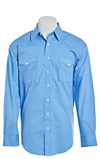 Rough Stock by Panhandle Blue Geo Diamond Print Western Shirt