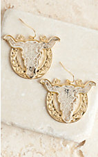 Silver and Gold Longhorn Earrings