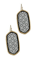 Black Cutout with Gold Trim Earrings