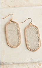 Silver and Gold Drop Earrings