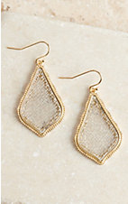Silver and Gold Rounded Triangle Drop Earrings