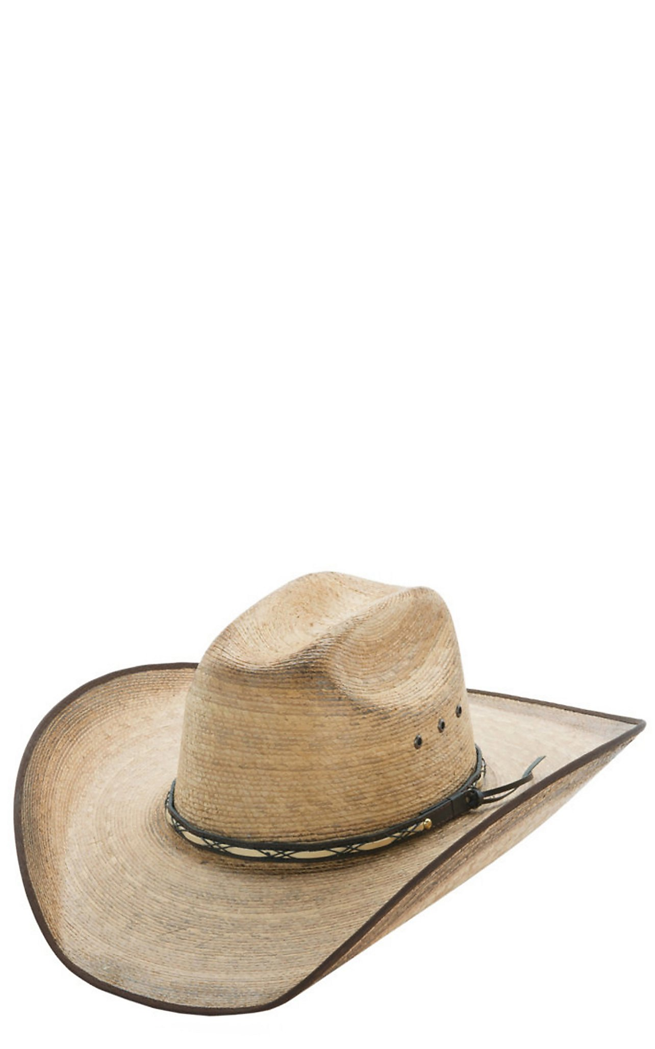 0c6619091c6 Resistol Hats Jason Aldean Amarillo Sky Bound Edge Palm Leaf Cowboy Hat
