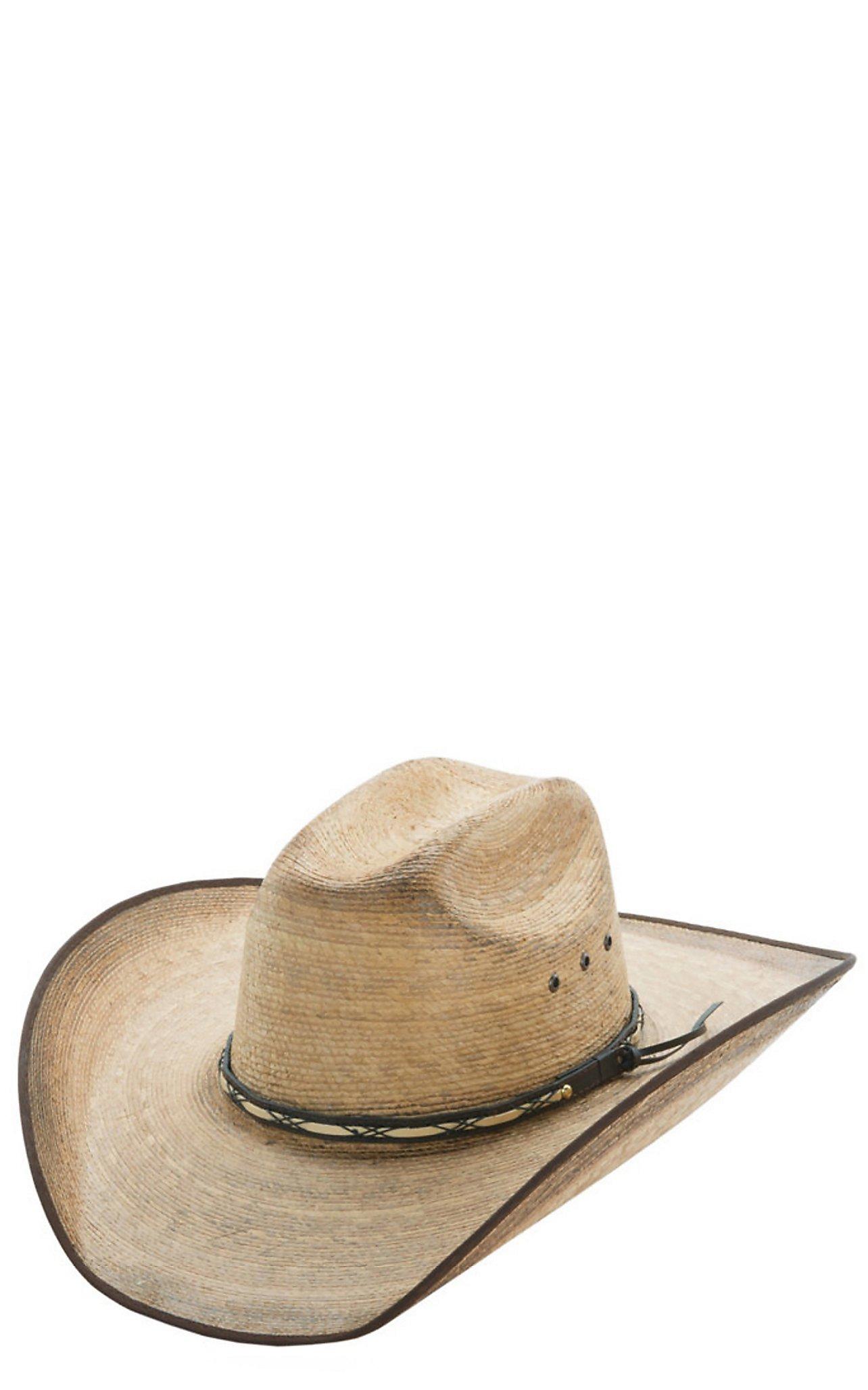 Resistol Hats Jason Aldean Amarillo Sky Bound Edge Palm Leaf Cowboy Hat  628acd42725