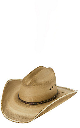 Resistol Hats Jason Aldean Georgia Boy Flamed Burned Palm Leaf Cowboy Hat