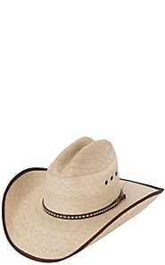 3a0b6f36d21 Resistol Hats Jason Aldean Hicktown Bound Edge Palm Leaf Cowboy Hat ...