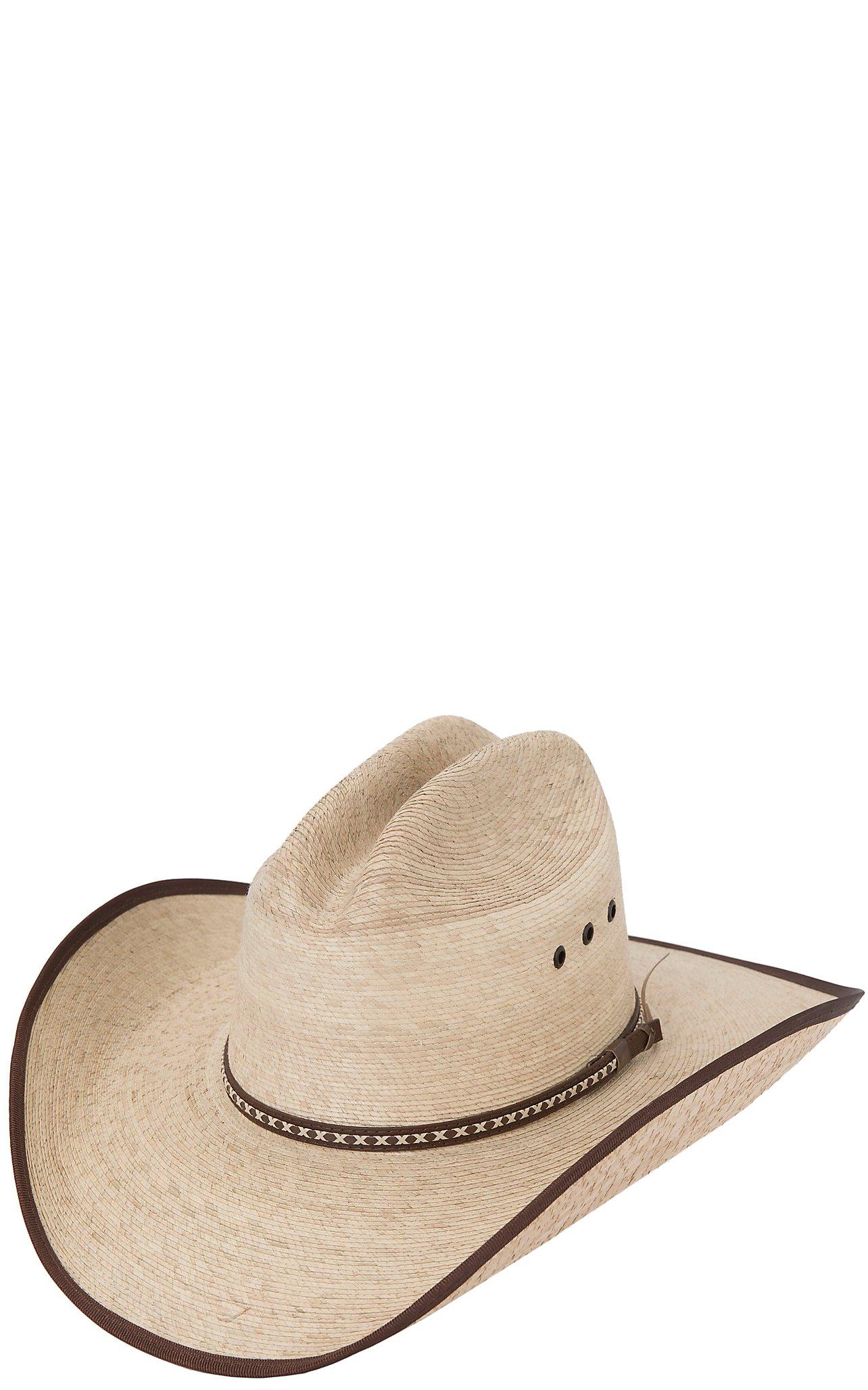 cecea2654a1 Resistol Hats Jason Aldean Hicktown Bound Edge Palm Leaf Cowboy Hat