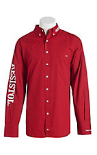 Resistol Men's Red Marketing Western Snap Shirt