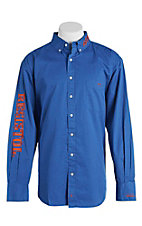 Resistol Men's Blue Marketing Western Snap Shirt