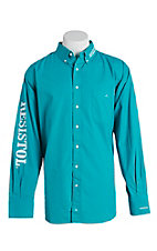 Resistol Men's Turquoise Marketing Western Snap Shirt